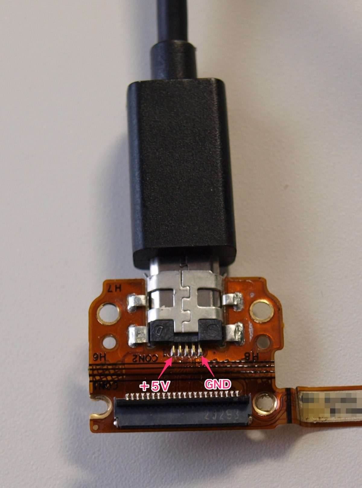 ASUS Nexus 7 2012 USBコネクタ交換 その1